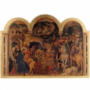 Cadre Adoration des Mages imprimé sur bois 49x68 s1