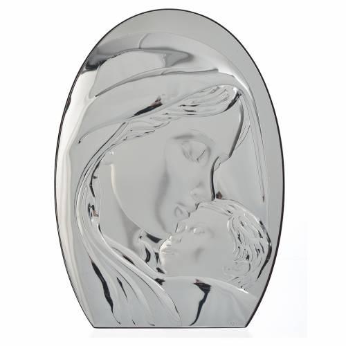 Cadre arrondi Vierge à l'Enfant 20x28 cm s1