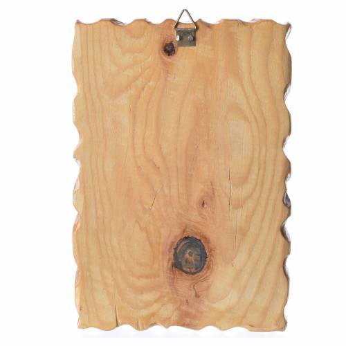 Cadre en bois impression Notre-Dame de Medjugorje 18x12 cm s2