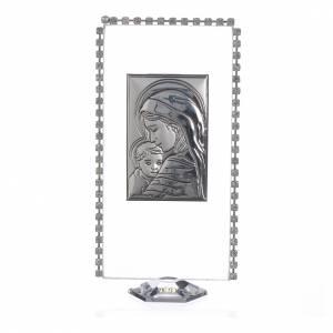 Cadre rectangulaire Maternité et strass 12x6 cm s1