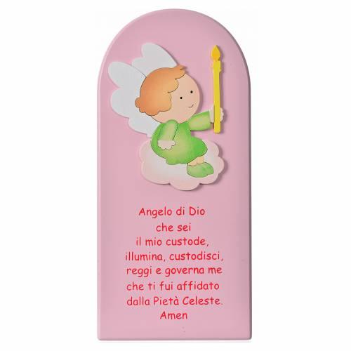 Cadre religieux Ange de Dieu bois s1