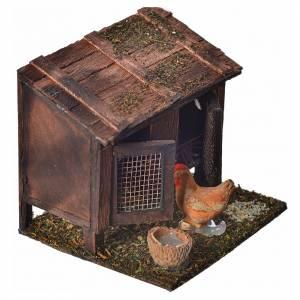 Cage à poules crèche napolitaine 6x7x6 cm s2