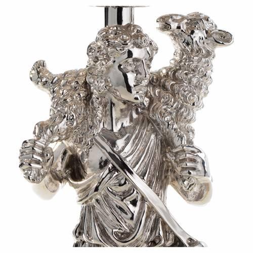 Calice argento 800 filigrana Buon Pastore pietre lapis s6