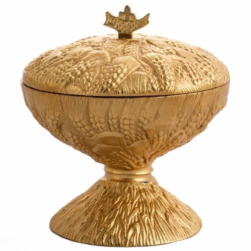 Calice ciboire patène épis laiton et bronze moulé s6