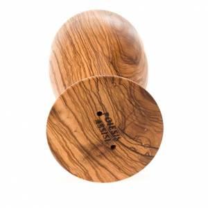calice en bois d'olivier, coupe en verre cm 8 s2