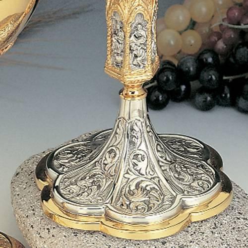 Calice et ciboire fusion laiton argent 925/00 images passion s3