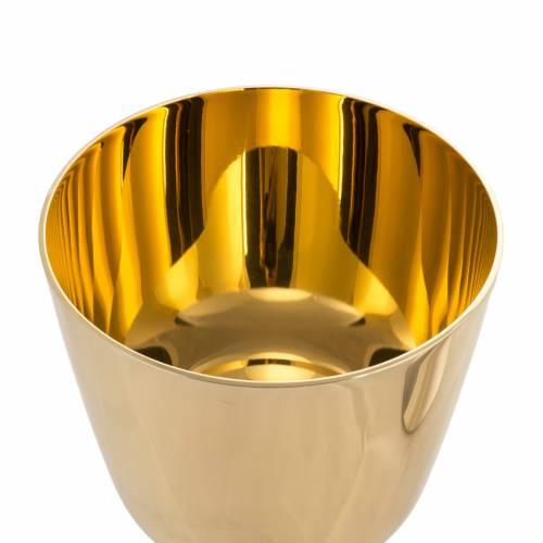 Calice Pisside ottone liscio, coppa calice bagno oro 24K s5