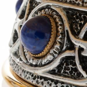Calice pisside patena ottone argento croce celtica e pietra s9