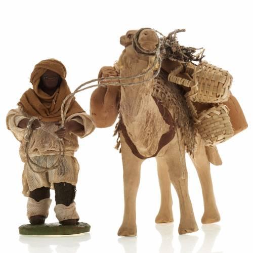 Camel with man, standing, Neapolitan nativity figurine 10cm s2