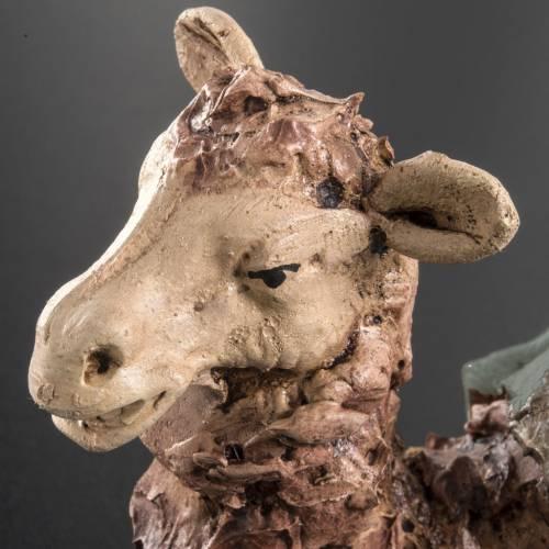 Camello verde  para el pesebre en arcilla de 18cm s4