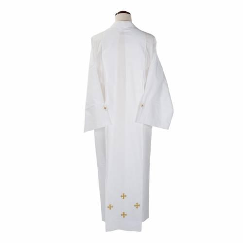Camice bianco lana croci decorate s4