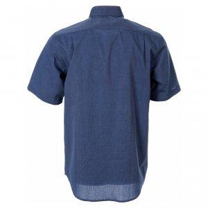 Camicie Clergyman: STOCK Camicia clergy manica corta filafil blu