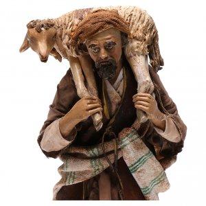 Pesebre Angela Tripi: Campesino con oveja 18cm Angela tripi terracota
