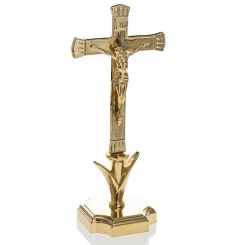 Candelabro para el altar con cruz s4
