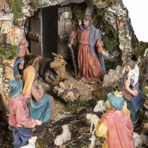 Capanne Presepe e Grotte: Capanna presepe 80x110x70 cm borgo e fontana