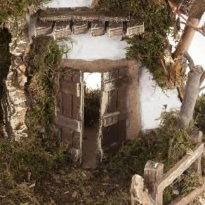 Capanne Presepe e Grotte: Capanna presepe stile baita 60x30x40 cm