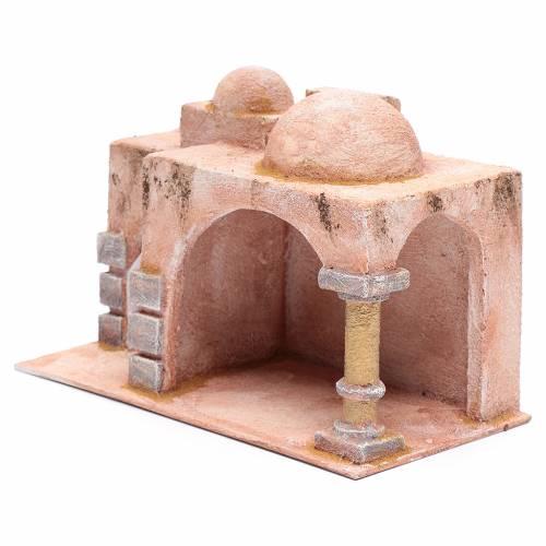Capanna stile arabo porticato 19x29x14,5 cm presepe s2