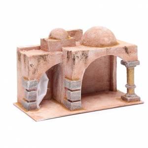 Capanna stile arabo porticato 19x29x14,5 cm presepe s3