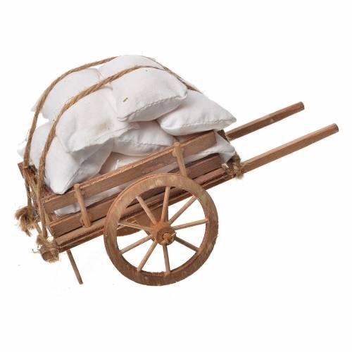 Carreta belén napolitano en madera con telas s1