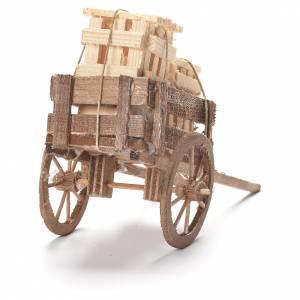 Cart with boxes, Neapolitan Nativity 12x20x8cm s3