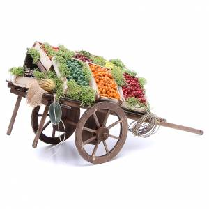 Cart with fruit for Neapolitan Nativity, 24cm s2