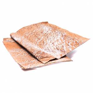 Carta roccia dipinta a mano marrone 70x100 cm presepe fai da te s2