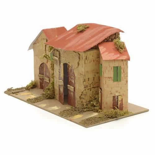 Casa ambientación pesebre 16x28x16 cm s2