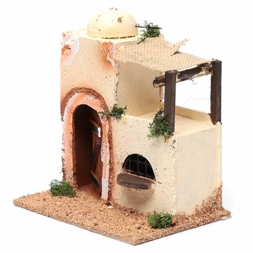 Casa araba in legno per presepe assortita 20x15x10 cm s2