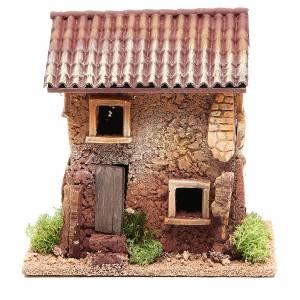 Casas, ambientaciones y tiendas: Casa belén corcho 18x18x13 cm