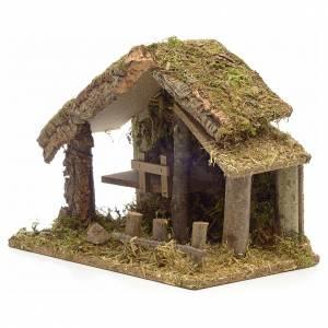 Casa pesebre en corcho con musgo y cerca 26x35x20 s3