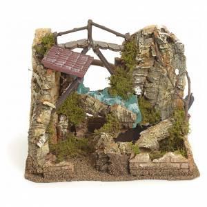 Ponts, ruisseaux, palissades pour crèche: Cascade électrique avec roches  pour crèche