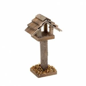 Animali presepe: Casetta uccelli per presepe 10 cm