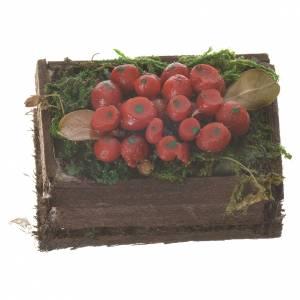 Cassetta frutta rossa cera figure presepe 20-24 cm s1