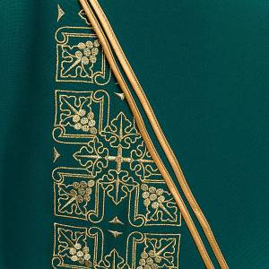 Casula liturgica e stola ricamo croce grande s5
