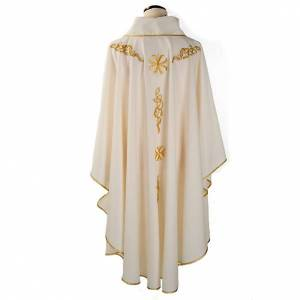Casula liturgica ricamo dorato s2