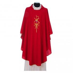 Casule: Casula sacerdotale 100% poliestere con spighe croce uva