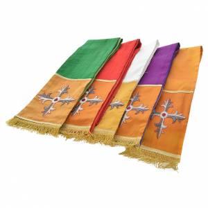 Casula sacerdotale seta 100% ricamo croce s13