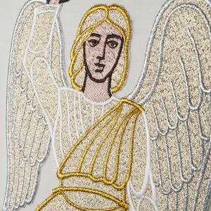 Casulla con estola ángel y cruz s4