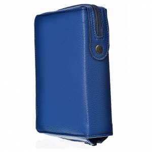 Catholic Bible covers: Catholic Bible Anglicised cover blue bonded leather with Holy Trinity