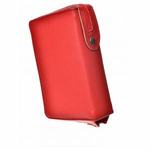 Catholic Bible covers: Catholic Bible Anglicized cover, red bonded leather with image of Our Lady