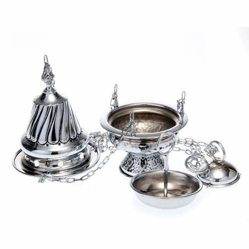 Censer and boat in polished silver s3
