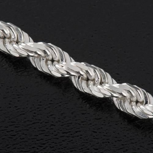 Chain for bishop's cross in white sterling silver s3