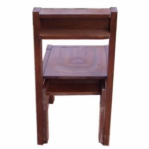 Chaise avec Prie-Dieu pliable en bois 87x40x35 cm s2