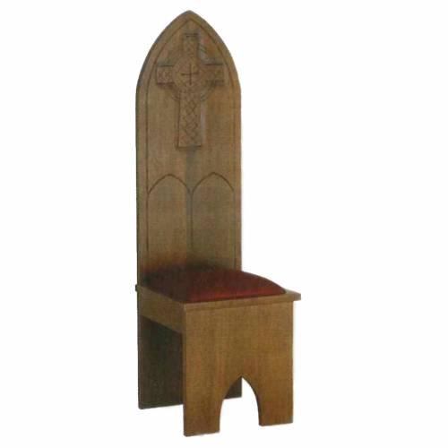 Chaise bois massif style gotique 150x47x47 cm s1