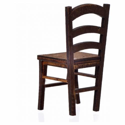 Chaise en bois en miniature 6,5x3x3 s2