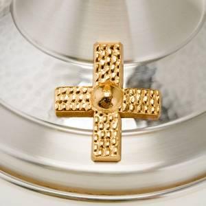 Metal Chalices Ciborium Patens: Chalice and Ciborium hammered Silver-plated brass