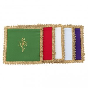 Altar linens: Chalice veil in Vatican fabric, polyester with removable card