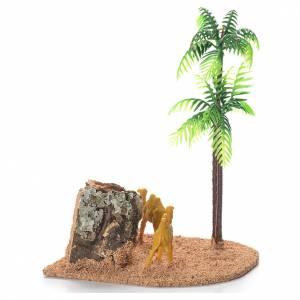 Chameaux et palmiers décor crèche s2