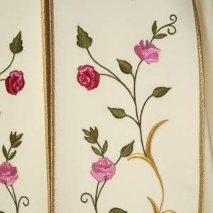 Chapes, Chasubles Romaines, Dalmatiques: Chape liturgique IHS roses colorées