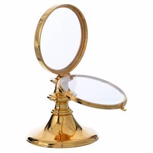 Chapel Monstrance in gold-plated brass H 16cm, host 7,5cm s2